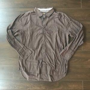 Quicksilver Brown Button Down Shirt